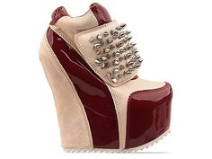 """and if the previous one wasnt """"rediculous"""" enough for you... Here is this one!  Jeffrey Campbell Dramo Spike in Turquoise Suede Silver at Solestruck.com"""