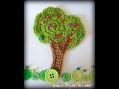 Niftynnifer's Crochet & Crafts: Free Crochet Pattern ~Tree Motif  ༺✿ƬⱤღ https://www.pinterest.com/teretegui/✿༻