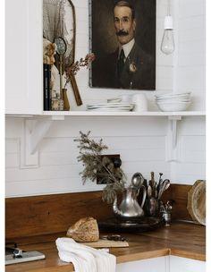 Captain's Rest, Strahan Tasmania - Marnie Hawson, purpose-driven interior, travel and lifestyle photographer Layout Design, Interior And Exterior, Interior Design, Ikea, Apartment Kitchen, Home Decor Inspiration, Home Kitchens, Decoration, Art Decor
