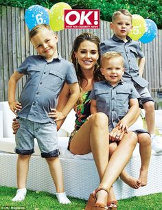 Expanding her family: Danielle Lloyd, pictured with sons Archie (left), Harry (back right) and George (on her lap), speaks about her wedding plans