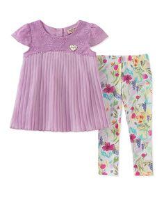 99f4f8e1e Juicy Couture Purple Ruffle Tunic & Leggings - Infant, Toddler & Girls