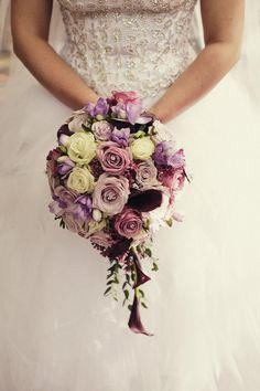 bouquet - lavender, plum, ivory.