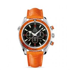 2918.50.38 : Omega Seamaster Planet Ocean 600M Co-Axial Chrono Orange / Orange Alligator