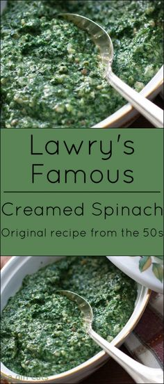 Original recipe from the Lawry's Famous Creamed Spinach. Original recipe from the Related posts: Lawry's Famous Creamed Spinach Lawry's Famous Creamed Spinach The Only Creamed Spinach Recipe You'll Ever Need Side Dish Recipes, Vegetable Recipes, Vegetarian Recipes, Dinner Recipes, Cooking Recipes, Healthy Recipes, Cooking Pork, Cooking Games, Pasta Recipes