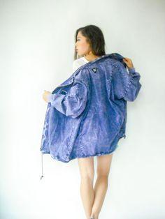Vintage 80s Windbreaker Purple ACID WASH Jacket / by viralthreads