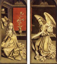 Rogier van der Weyden (1400-1464) Bladelin Triptych: exterior Oil on oak 1480 Staatliche Museen (Berlin, Germany)
