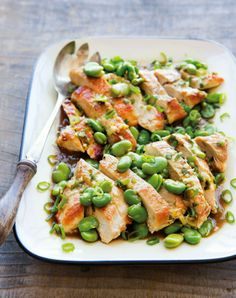 Chicken Breasts with Fava Beans ~ Healty Food Recipes, Diet Tips, Desserts And A Lot More