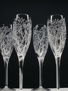 glass flutes tree branch motif | Like this item?