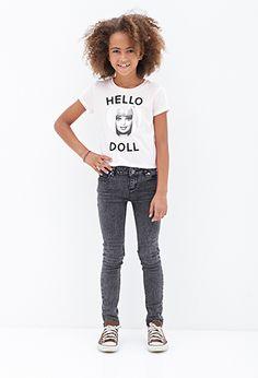 Hello Doll Barbie Tee (Kids) | FOREVER 21 - 2052289802