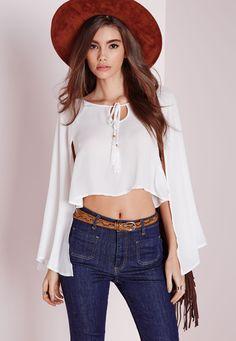 Women off shoulder shirts sexy white chiffon tops plus size   Blusa Femininas long sleeve casual Crop Top