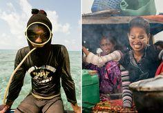 Série de fotos fascinante retrata o estilo de vida dos ciganos do mar