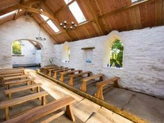 Private medieval Church at  Fron Farm yurt retreat.  A unique and unusual wedding venue in West Wales.