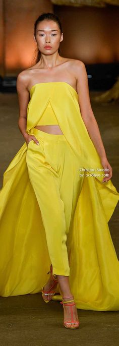 Christian Siriano Spring 2014. Will be so cool if it's worn by Cara Delevigne or Kristen Stewart.