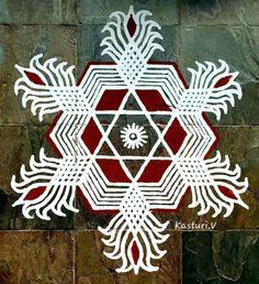 Simple Rangoli Designs Images, Rangoli Designs Flower, Rangoli Border Designs, Rangoli Designs Diwali, Kolam Rangoli, Easy Rangoli, Beautiful Rangoli Designs, Mehandi Designs, Free Hand Rangoli Design