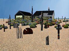 """""""Derek Jarman's Garden"""" by Michael Kidd (oil on board)"""