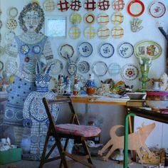 Studio space of Cleo Mussi and Matthew Harris, Home & Antiques, Aug11.