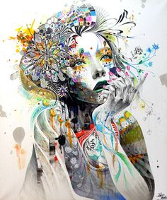 """Circulation"" created by Minjae Lee using markers, pens, crayons, and acrylics."