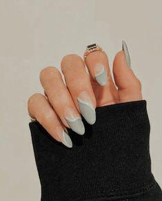 Acrylic Nails Coffin Short, Simple Acrylic Nails, Almond Acrylic Nails, Best Acrylic Nails, Edgy Nails, Funky Nails, Stylish Nails, Swag Nails, Nagellack Design