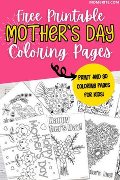 Staying in to celebrate Mother's Day with your kids? Grab these fun and free printable Mother's Day coloring pages and get creative with your kids at home! #mothersdayfreecoloringpages #freecoloringpagesforkids Diy Crafts To Do, Holiday Crafts For Kids, Easy Crafts For Kids, Toddler Crafts, Mothers Day Coloring Pages, Love Coloring Pages, Fathers Day Crafts, Valentine Day Crafts, Mother's Day Projects