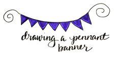 BASIC HAND LETTERING: PENNANT BANNER