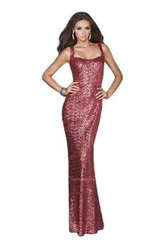 La Femme 18751 Long  Red  Dress