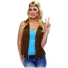 cool Fringe Vest Hippie Costume Adult Womens 60s Halloween Fancy Dress   Check more at http://harmonisproduction.com/fringe-vest-hippie-costume-adult-womens-60s-halloween-fancy-dress/