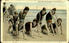 Leap Frog On The Beach Atlantic City New Jersey 1924