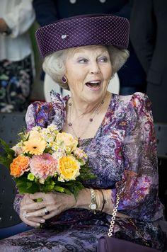 L'ex-reine Beatrix des Pays-Bas s'est rendue ce jeudi en Slovaquie pour y inaugurer l'exposition «Les stars européennes Miro & Cobra».