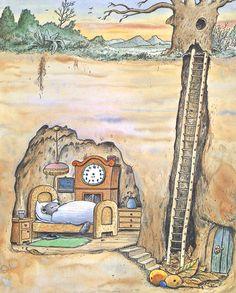 erwin moser - Google-Suche Kunstjournal Inspiration, Art Journal Inspiration, Art And Illustration, Wizard Drawings, Vintage Book Art, Perspective Art, Postcard Art, Woodland Creatures, Colorful Drawings