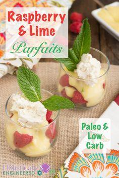 Paleo Raspberry & Lime Parfaits #lowcarb #paleo #essentialoils