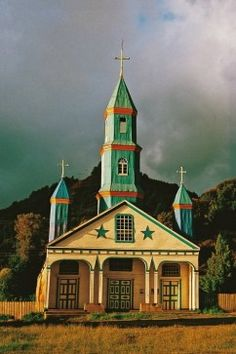 Chiloe, Chile.  http://www.worldheritagesite.org/sites/chiloe.html