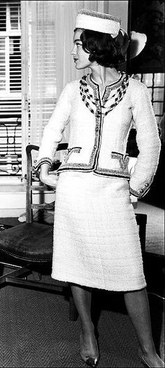 Actress Romy Schneider in a Chanel Suit from the 1960's.