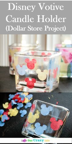 These DIY candle holders made with items from the dollar store are a perfect craft for kiddos. Do a Disney theme, or a mosaic theme! via diy crafts DIY Candle Holders from Dollar Store Supplies Disney Crafts For Kids, Crafts For Teens To Make, Spring Crafts For Kids, Crafts To Sell, Diy And Crafts, Easy Crafts, Decor Crafts, Sell Diy, Kids Diy