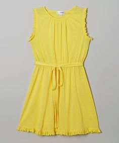 Look what I found on #zulily! Yellow Ruffle Sleeveless Dress by Igloo Island #zulilyfinds