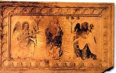 La cathédrale de Rodez (Aveyron), l'autel de Dieusdedit marbre (X°s) peint au 17°s. - Georges II d'Armagnac, 4-Tissus et tapisseries: Revenu à Rodez, Georges II fait confectionner en 1552 par Jacques Rousseau, dit Jacques le Brodeur, 2 draps d'autel de velours cramoisi pour le grand autel de la cathédrale de cette ville, et ce pour la somme de 120 livres tournois.