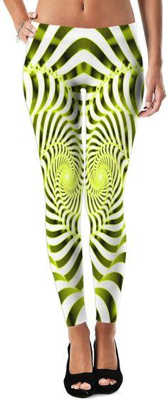 Yellow Gurl Smooth Dubstep Remix Custom Rave Revolution Street Style Leggings by Willy Badu.