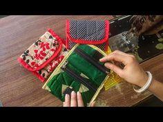 How to make Beautiful designer clutch bag Diy Bags Purses, Fabric Purses, Fabric Bags, Purses And Handbags, Sew Bags, Diy Purse No Sew, Crochet Handbags, Crochet Purses, Bag Patterns To Sew