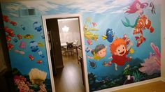Ghibli/Disney/Pixar mural a father painted for his 2 year old daughter