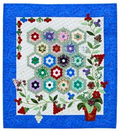 Hand Quilting, 3rd Place: Silk Kaleidoscope by Diana McCorkall.  2013 Northwest Quilting Expo.