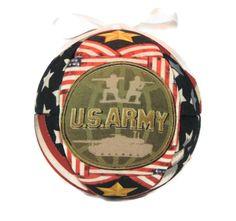 US Army Patriotic Handmade Christmas Ornament by CraftCrazy4U