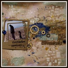 dt layout for Creative Embellishments using their fabulous laser cut chipboard frames, alphas and wood veneer gears. Also inspired by the mood board at Scrap Around the World and sketch from Scrap Friends. TFL!