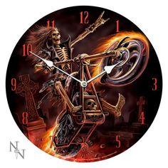 Hell Rider Wall Clock