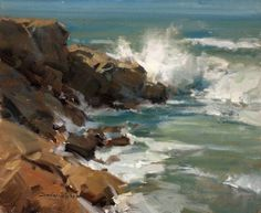 Pacific Waters. 12 x 10 in, oil. Scott Christensen