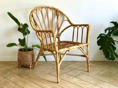 Accent Decor, Accent Chairs, Rattan Armchair, Mid Century Armchair, Living Room Seating, Wishbone Chair, Bohemian Decor, Wicker, Bamboo