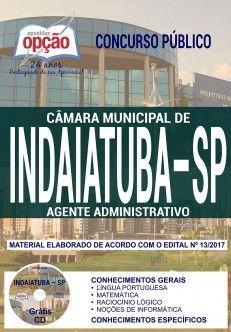 Nova Apostila Concurso Camara De Indaiatuba 2018 Agente