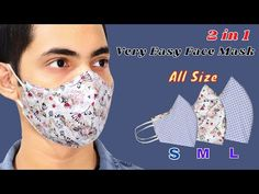 😷Very Easy DIY Face Mask- All Size (S M L)   Easy To Make Mask Sewing Tutorial   How To Make Mask - YouTube Sewing Basics, Sewing Hacks, Sewing Tutorials, Free Printable Sewing Patterns, Vogue Sewing Patterns, Easy Face Masks, Diy Face Mask, Homemade Pore Strips, Crochet Mask