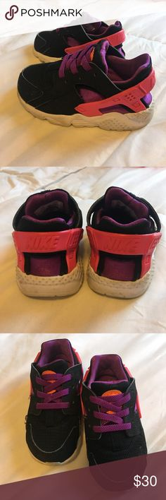 Nike Huraches Toddler size 6. Pink, purple and black. GUC. Nike Shoes