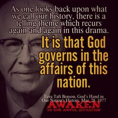 It is God that governs in the affairs of this nation. Lds Quotes, Encouragement Quotes, Quotable Quotes, Wisdom Quotes, Quotes To Live By, Inspirational Quotes, Spiritual Thoughts, Spiritual Quotes, Amazing Quotes