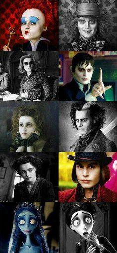 Helena Bonham Carter - Johnny Depp - Tim Burton