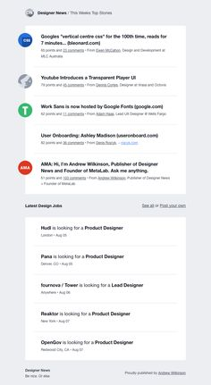 [DN] Top Stories for the Week of Aug Content Area, Best Email, Email Design, News Design, Public, Reading, Draw, Digital, Top